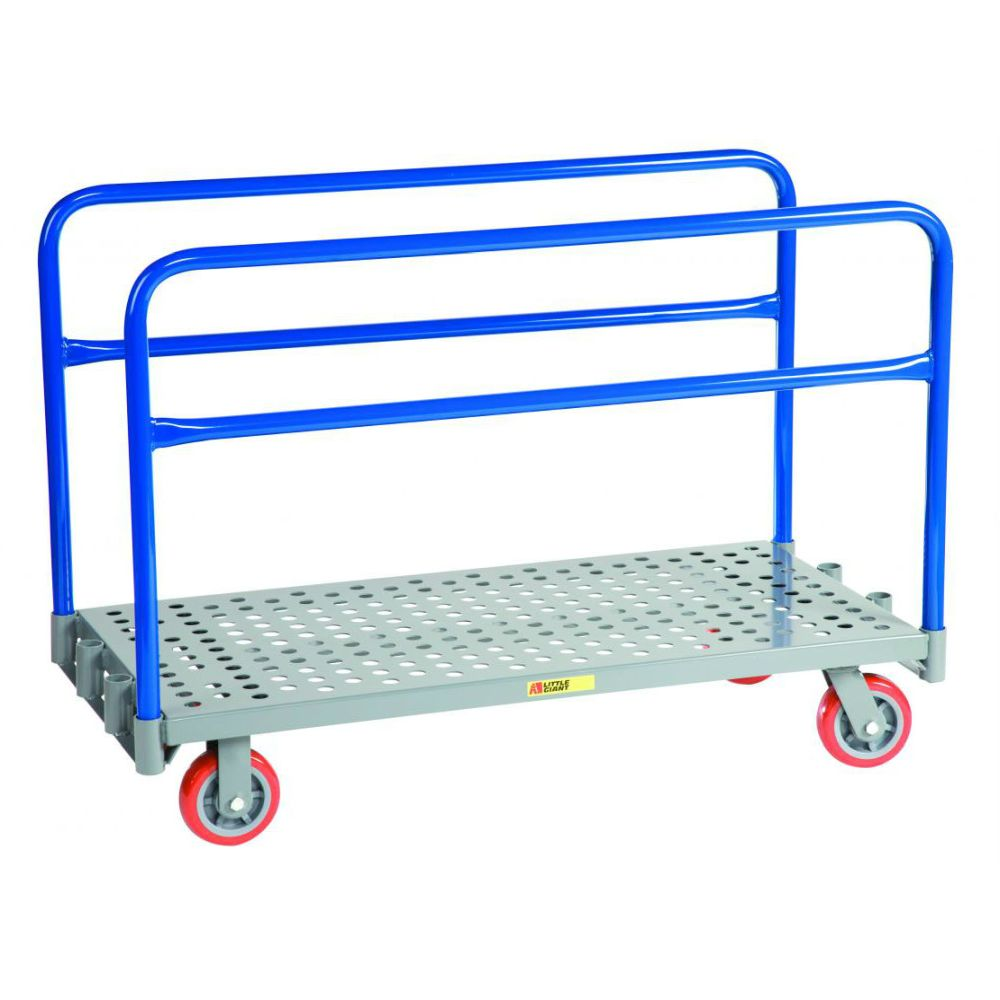 Adjustable Sheet & Panel Truck w/ Perforated Deck - APT-2448-6PY