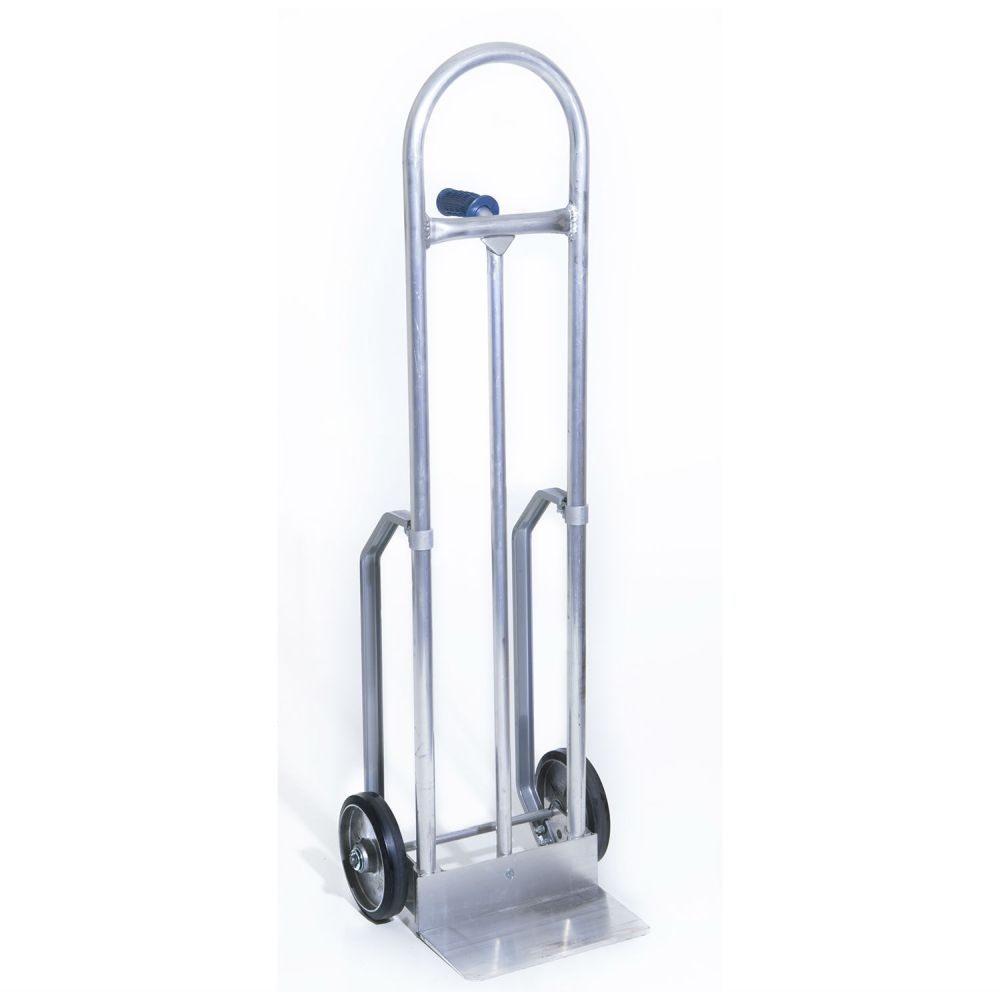 Aluminum Hand Truck Continuous Loop Single PIn Handle, Rubber Wheels