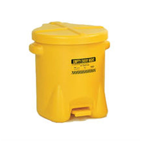 Oily Waste Can 6 Gal. Yellow Poly