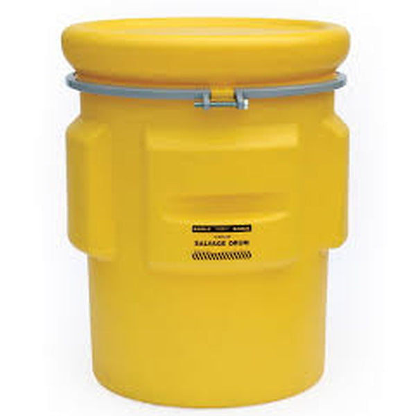 Salvage Drum 65 Gal. Yellow w/ Metal Band & Bolt