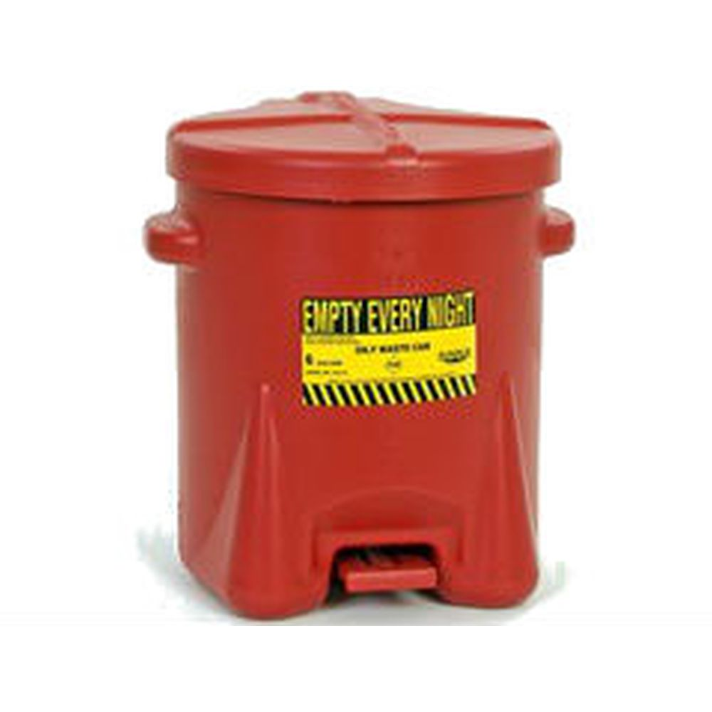 Oily Waste Can 6 Gal. Red Poly - 933-FL