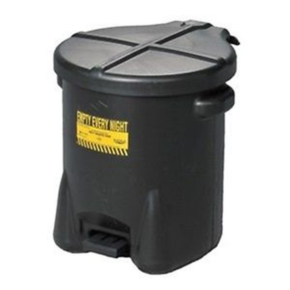 Oily Waste Can 6 Gal. Black Poly - 933-FLBLK