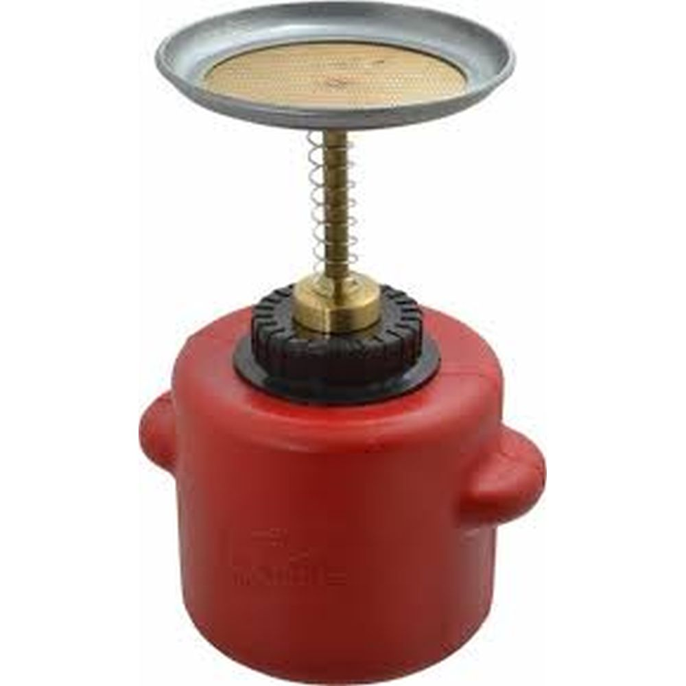 Plunger Can 2 Qt. Poly Red
