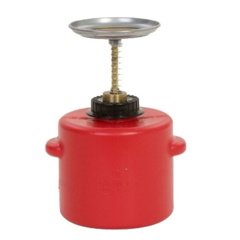 Plunger Can 4 Qt. Poly Red - P-714