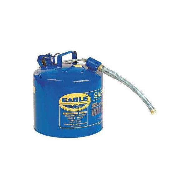 "Type II Safety Can, 5 Gal. Blue with 7/8"" O.D. Flex Spout"