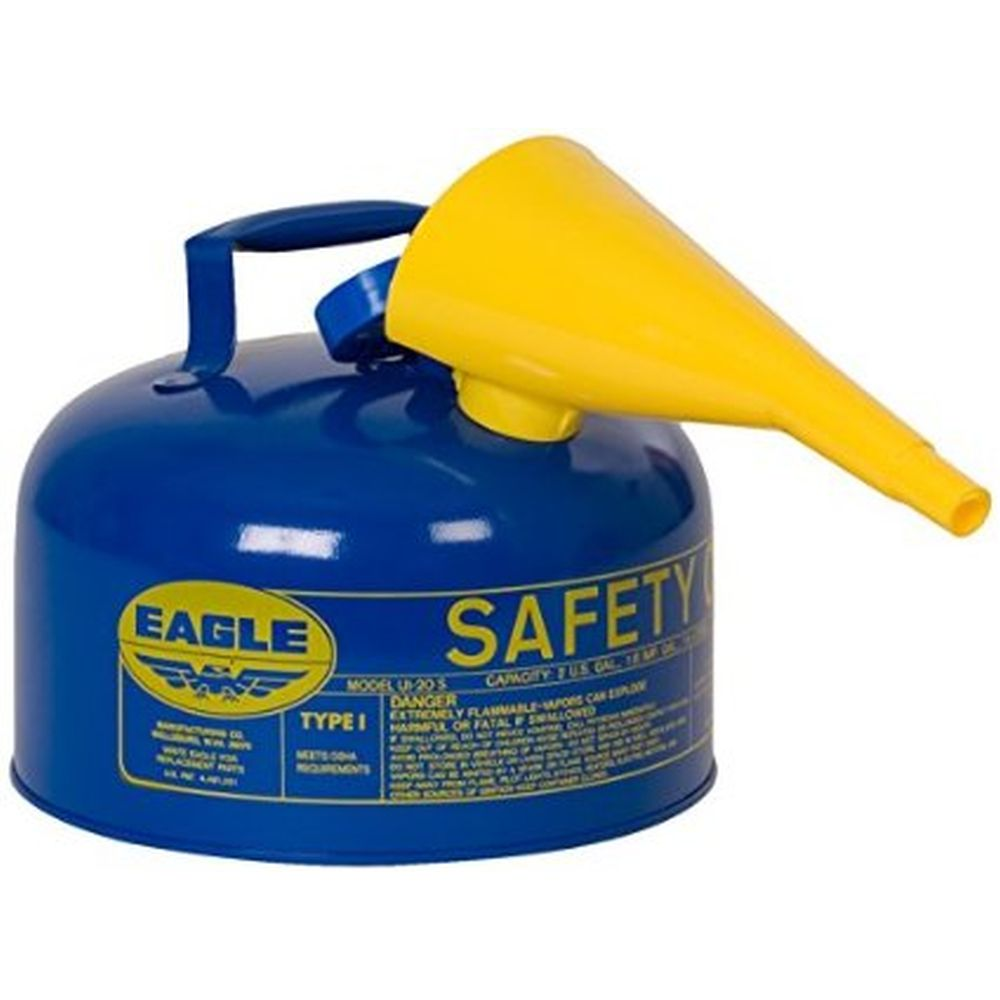 Type I Safety Can 1 Gal. Blue w/ F-15 Funnel