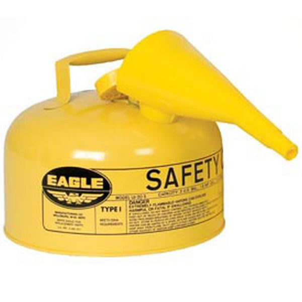 Type I Safety Can 1 Gal. Yellow w/ F-15 Funnel