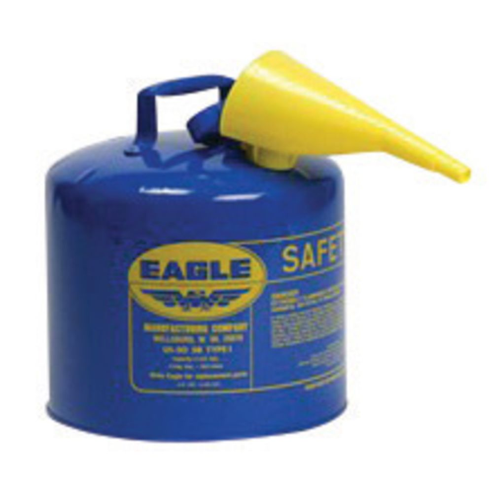 Type I Safety Can 5 Gal. Blue with F-15 Funnel