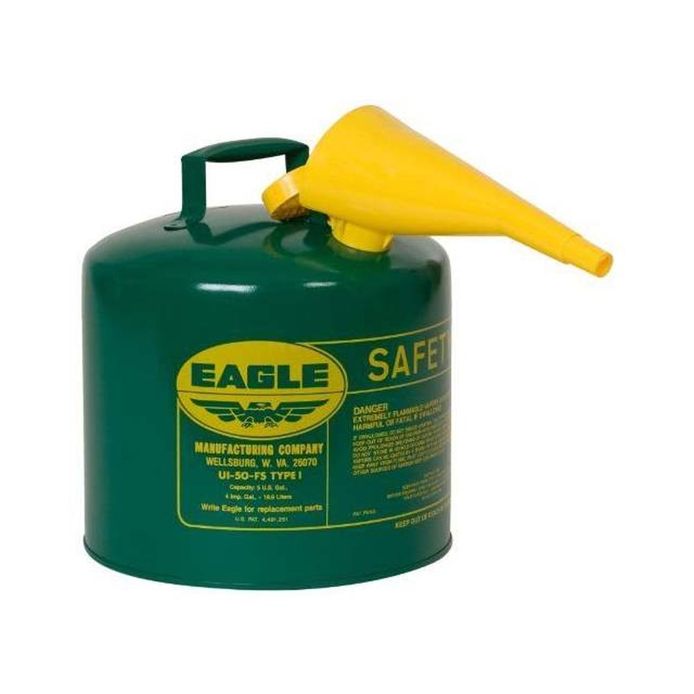 Type I Safety Can 5 Gal. Green w/ F-15 Funnel