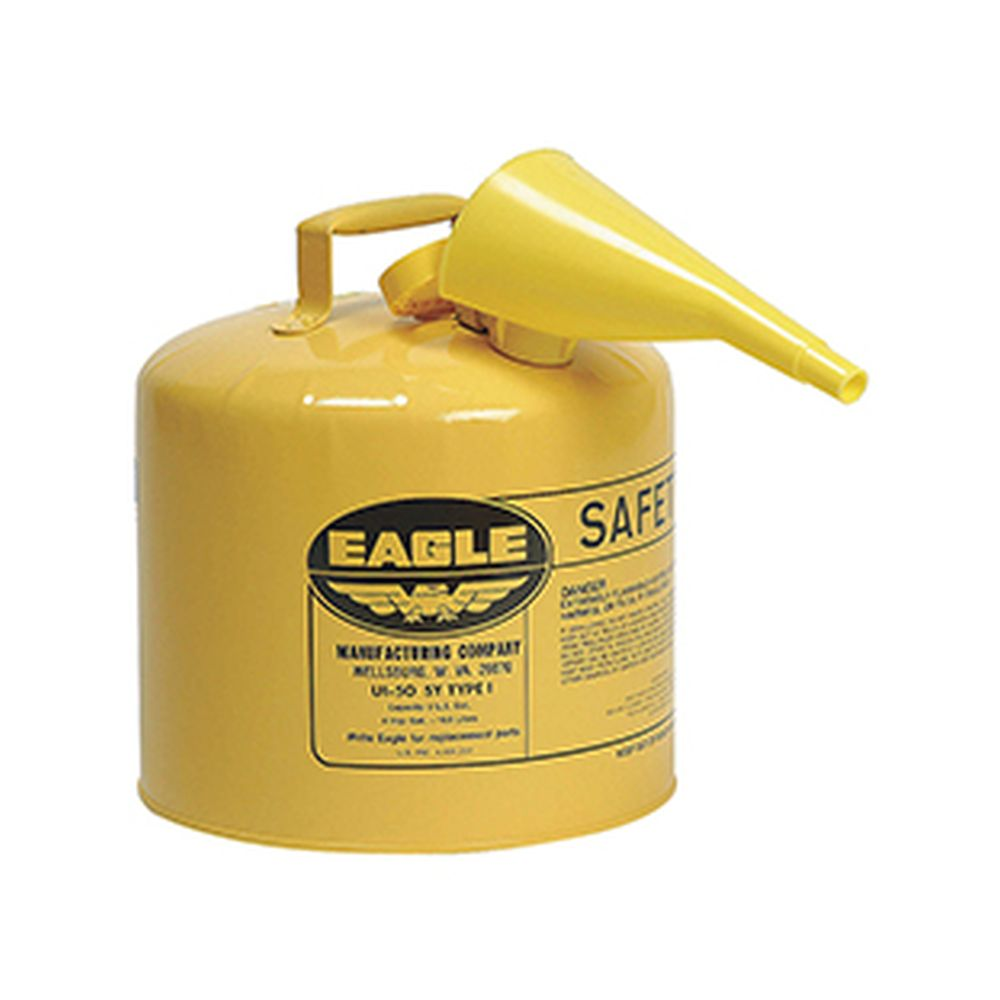 Type I Safety Can 5 Gal. Yellow w/ F-15 Funnel