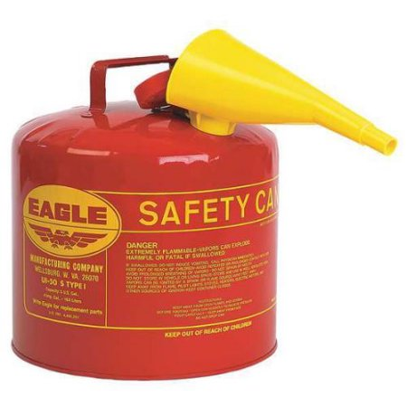 Type I Safety Can 5 Gal. Red with F-15 Funnel