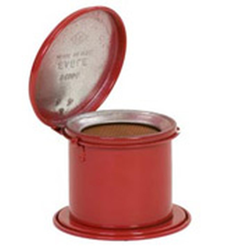 Daub Can 1/2 Pt. Metal Red