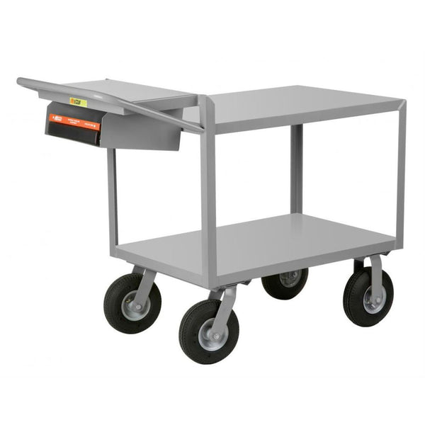Instrument Cart w/ Writing Shelf and Storage Pocket (Flush Steel Top)