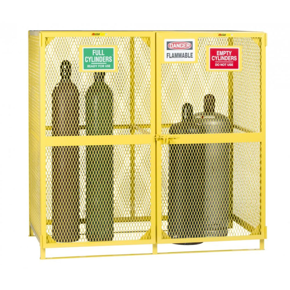 Gas Cylinder Storage Unit w/ Labeled Compartment