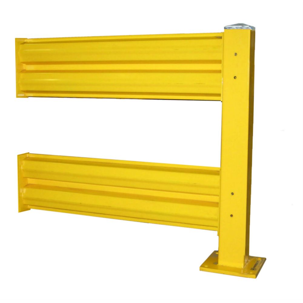 Heavy Duty Warehouse Double Guard Rail Add-On Unit