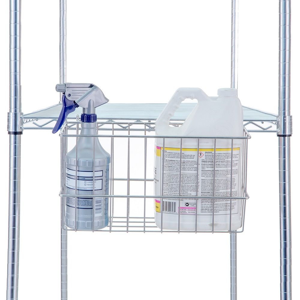 Accessory Basket For Wire Linen Carts & Shelving Units