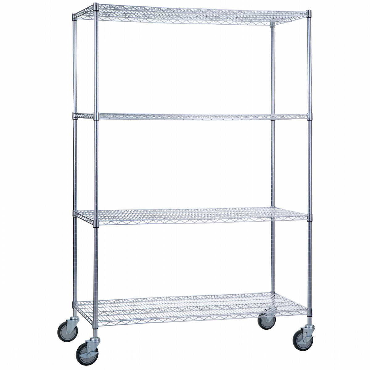Wire Linen Cart with Casters - 18