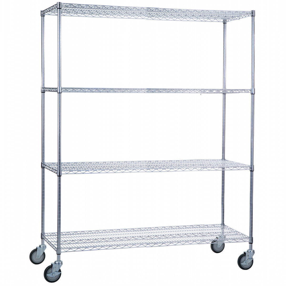 Wire Linen Cart with Casters - 24