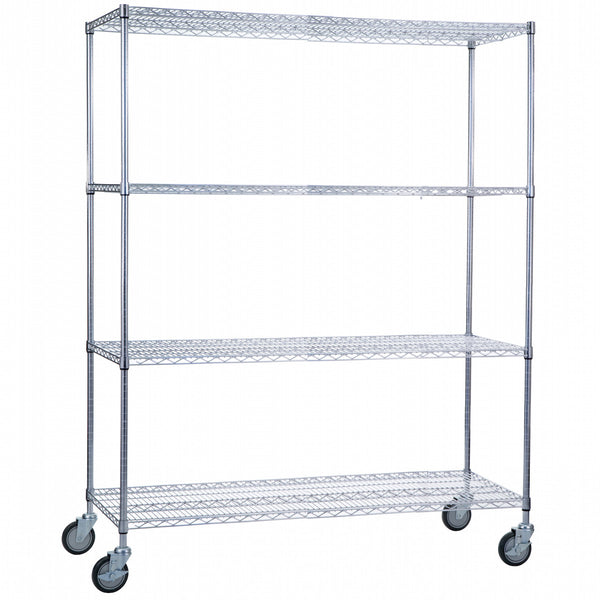 "Wire Linen Cart with Casters - 24"" x 60"" x 72"""