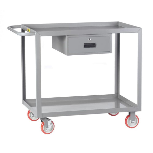 Welded Service Cart w/ Drawer and Retaining Lips
