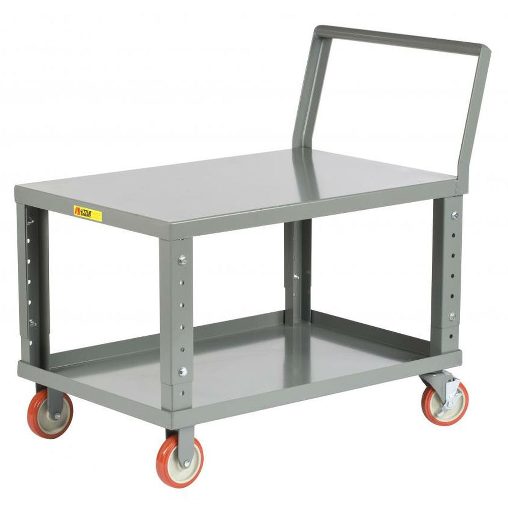 Ergonomic Adjustable Height Shelf Truck (w/ Flush Top)