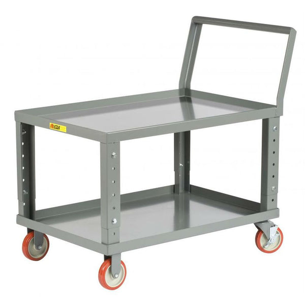 Ergonomic Adjustable Height Shelf Truck (w/ Lips)