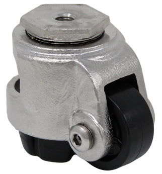 Stainless Steel Leveling Caster Threaded Hollow Kingpin - 600 lbs. Cap.