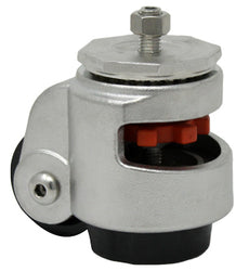 Stainless Steel Leveling Caster Threaded Hollow Kingpin - 1300 lbs. Cap.