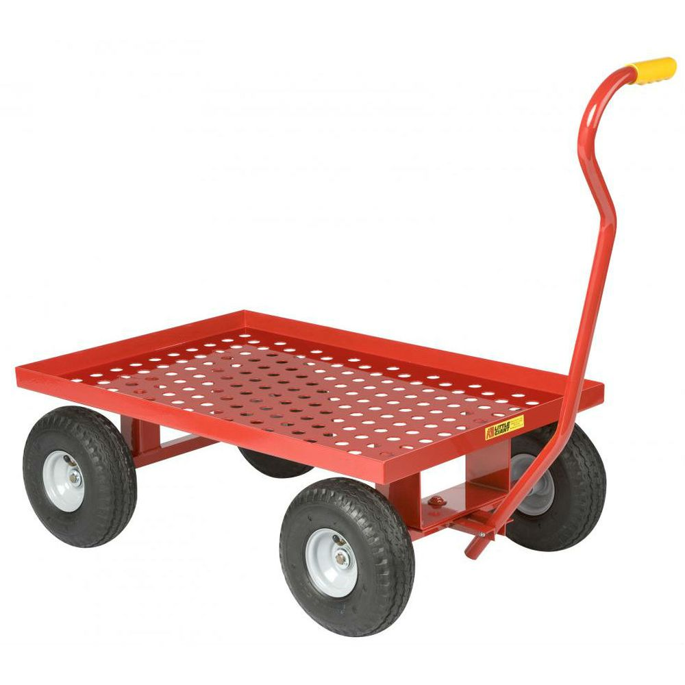 Perforated Steel Deck Wagon Truck (Flat Free Solid Rubber Wheels)