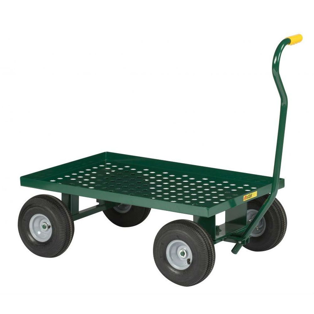 Nursery Wagon Perforated Steel Deck (Solid Rubber Wheels)