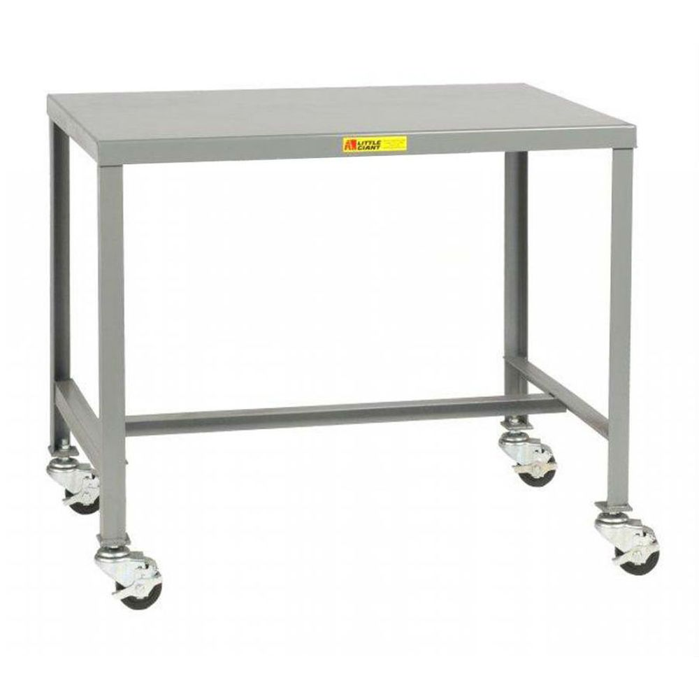 Mobile Steel Top Machine Table (36