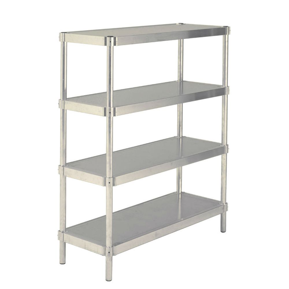 Aluminum Shelving Unit Solid Shelves (20
