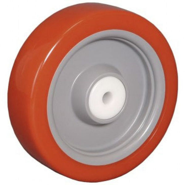 "5"" Poly-Pro Wheel Red/Gray - 450 lbs. Capacity"