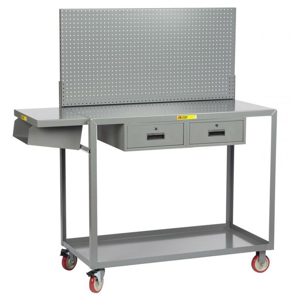 Work Height Mobile Worstation w/ Pegboard