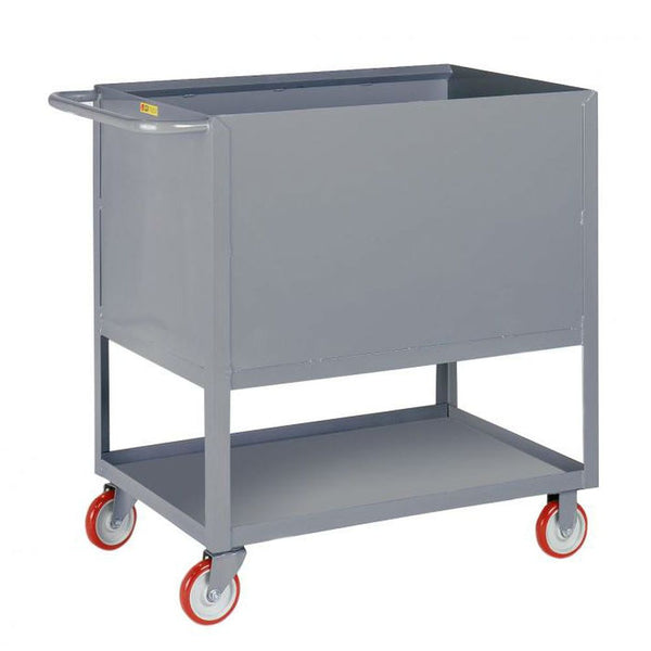 Raised Platform Box Truck w/ Lower Shelf