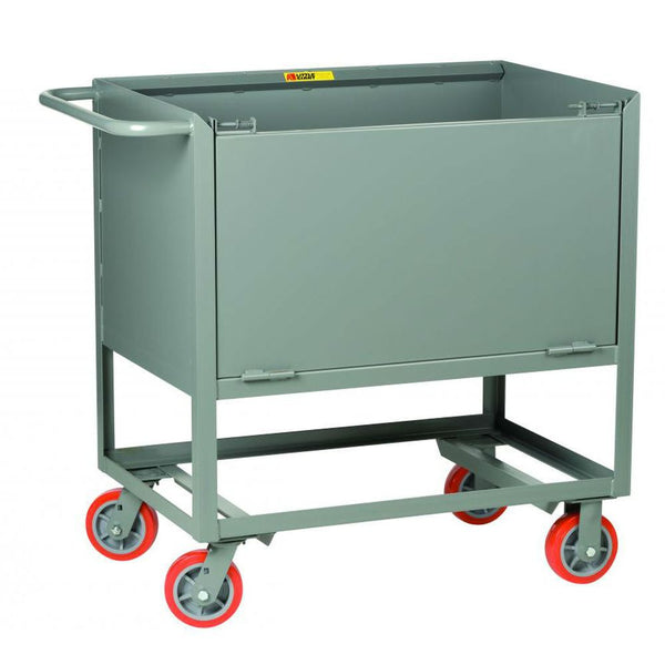 Raised Platform Truck Box Truck with Drop Gate (Solid Sides)