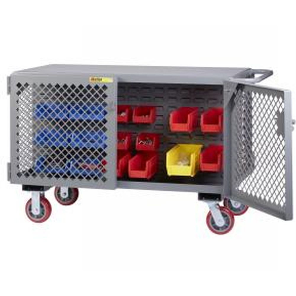 2-Sided Mobile Maintenance Cart with Louvered Panel