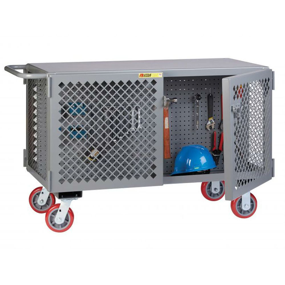 2-Sided Mobile Maintenance Cart with Pegboard