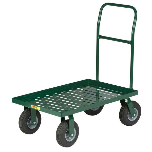 Nursery Platform Truck Perforated Deck (Solid Rubber Wheels)