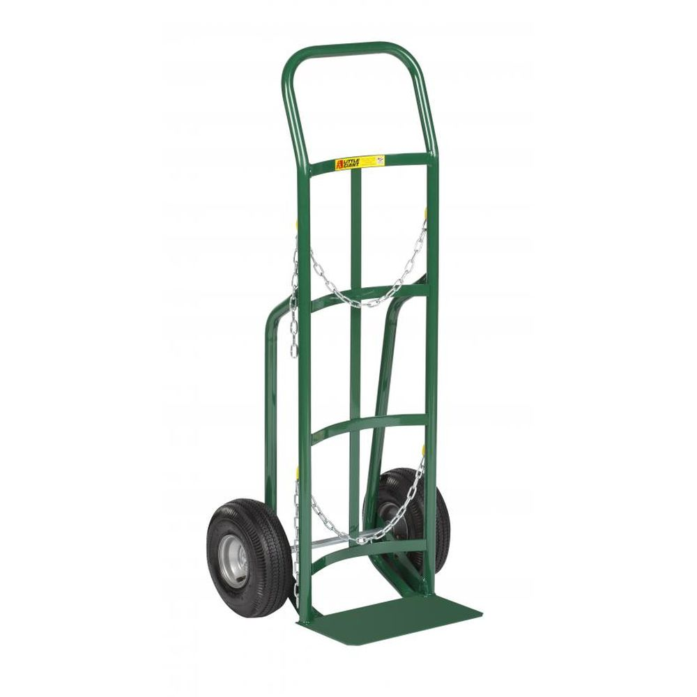 Single Cylinder Hand Truck w/ Continuous Handle (Pneumatic Wheels)