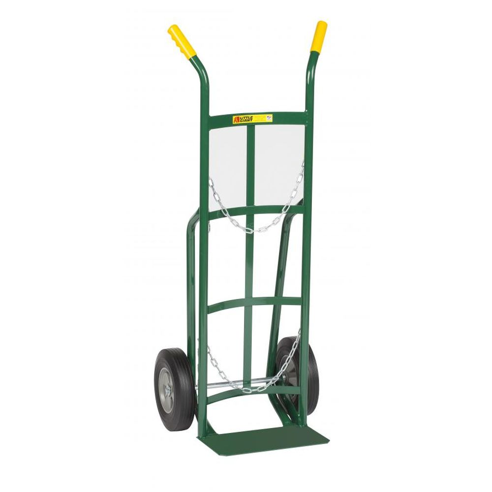Single Cylinder Hand Truck Double Pin (Semi-Pneumatic Wheels)