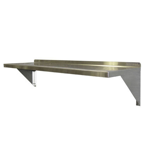 "Aluminum Wall Mount Shelf (12""D)"