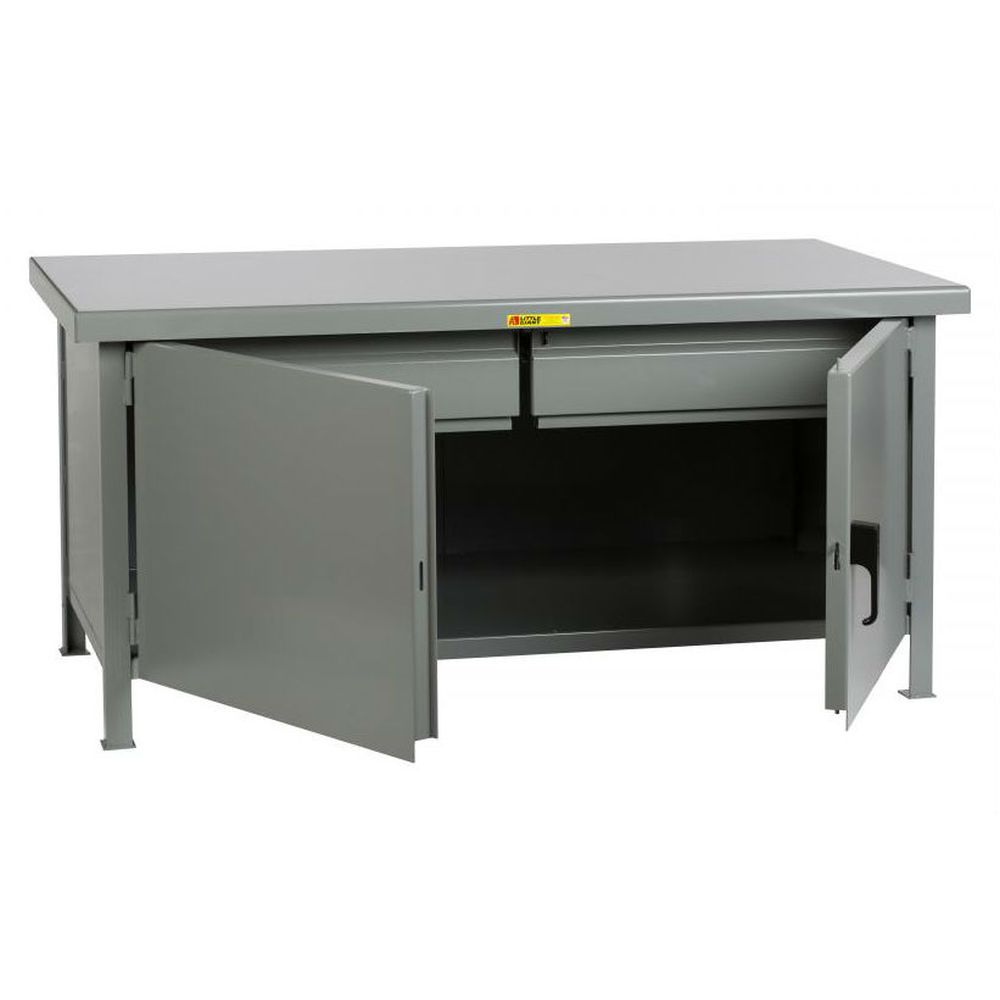Heavy-Duty Cabinet Workbench w/ 2 Heavy-Duty Drawers