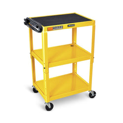 Adjustable Height Steel AV Cart (3 Shelves)