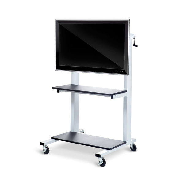 Crank Adjustable Height Flat Panel TV Cart