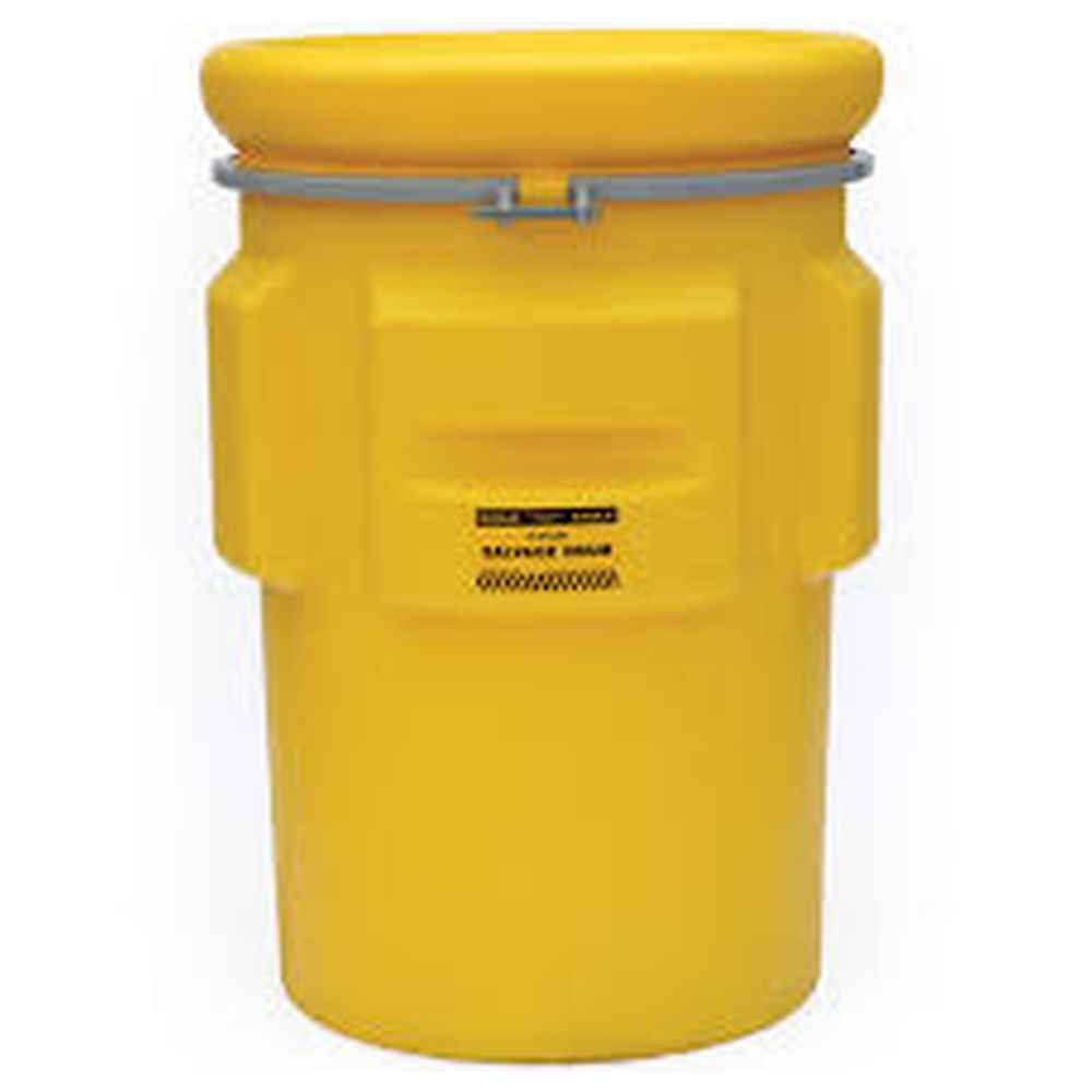 Salvage Drum 95 Gal. Yellow w/ Metal Band & Bolt