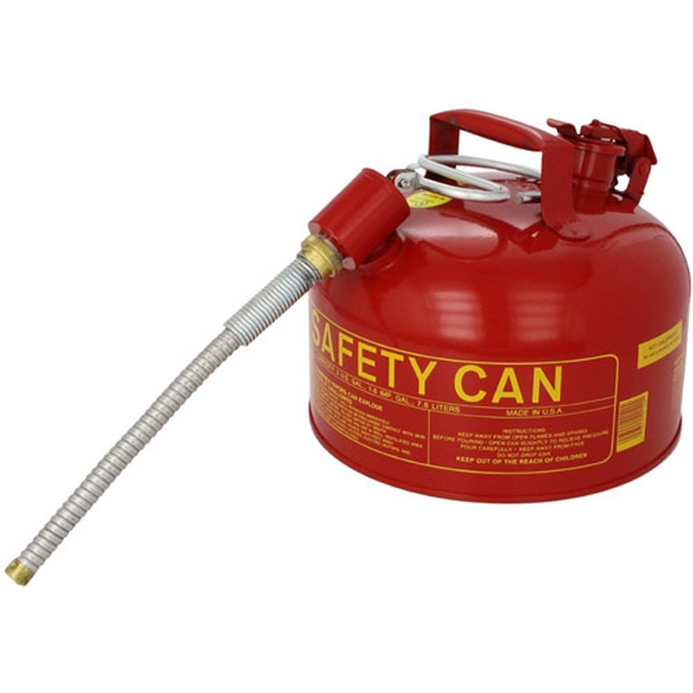 Type II Safety Can 2.5 Gal. Red w/ 5/8