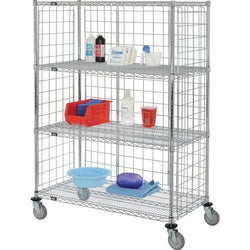 Enclosed Chrome Plated Shelf Truck