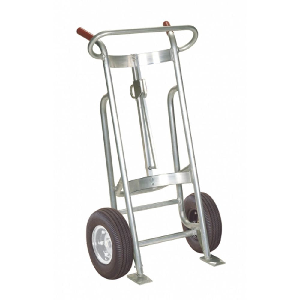 EZY-Rol Two Wheel Alum. Frame Drum Truck (Solid RubberFlat Free Tires)