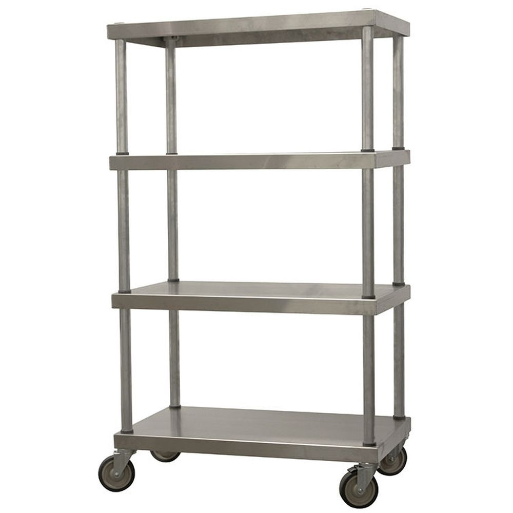 Mobile Aluminum Shelving Unit (66